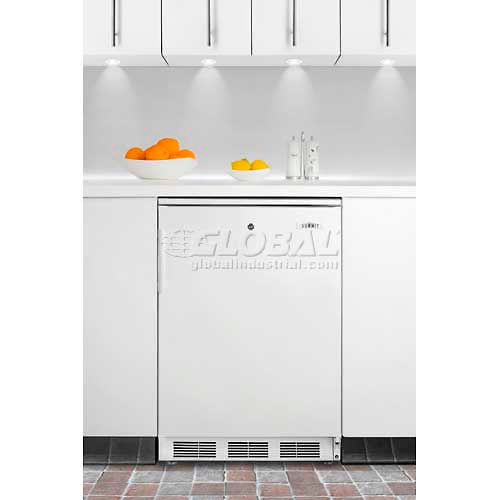 Summit CT66LBI Built-In Undercounter Refrigerator-Freezer, Lock, Dual Evaporator, Cycle Defrost by