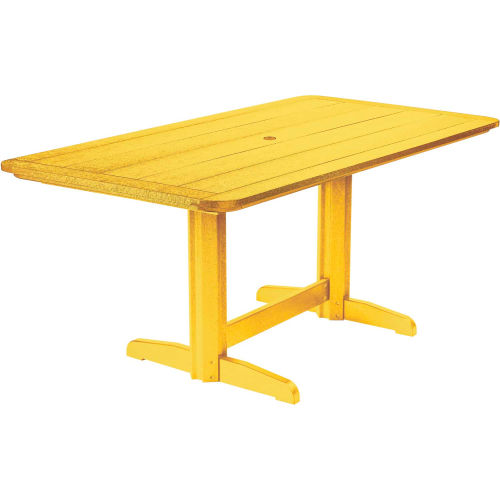 "Generations Double Pedestal Dining Table w/Base, Yellow, 72""L x 36""W x 31""H by"