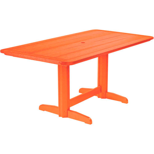 """Generations Double Pedestal Dining Table w/Base, Orange, 72""""L x 36""""W x 31""""H by"""