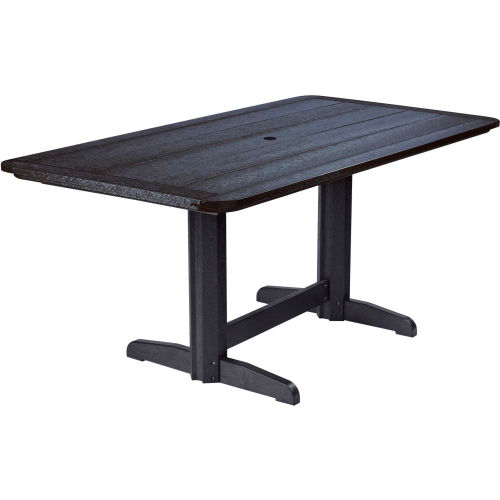 """Generations Double Pedestal Dining Table w/Base, Black, 72""""L x 36""""W x 31""""H by"""