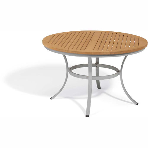 """Oxford Garden Travira 48"""" Round Dining Table, Tekwood Natural by"""
