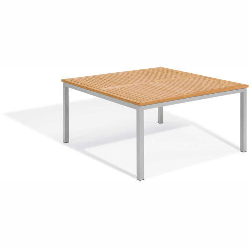 """Oxford Garden Travira 60"""" Square Dining Table, Tekwood Natural by"""