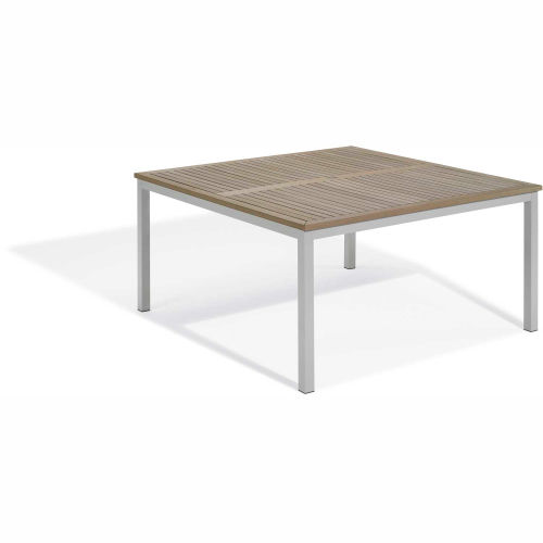 """Oxford Garden Travira 60"""" Square Dining Table, Tekwood Vintage by"""
