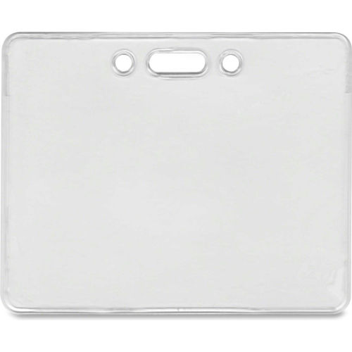 """Click here to buy Advantus Proximity ID Badge Holder, Horizontal, 3-3/8"""" x 2-3/8"""", Clear, 50/Pack."""