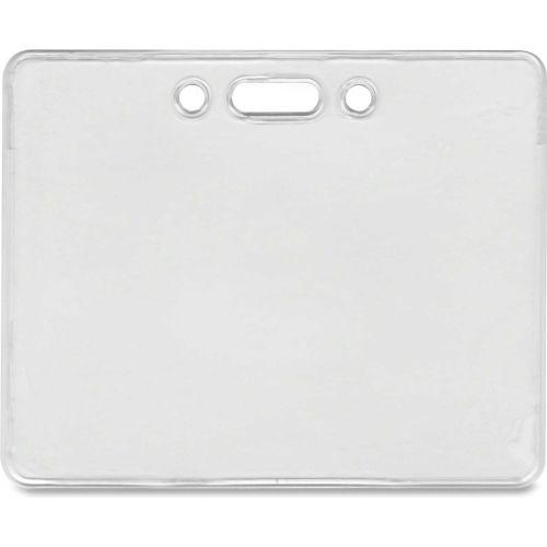 "Advantus Proximity ID Badge Holder, Horizontal, 3-3/8"" x 2-3/8"", Clear, 50/Pack by"