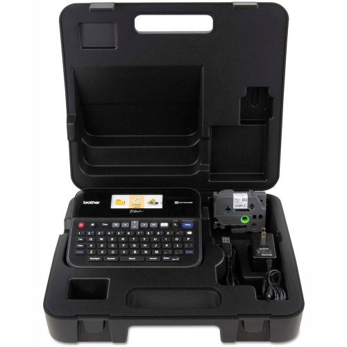 Brother P-Touch PC-Connectable Label Maker with Color Display & Carry Case by