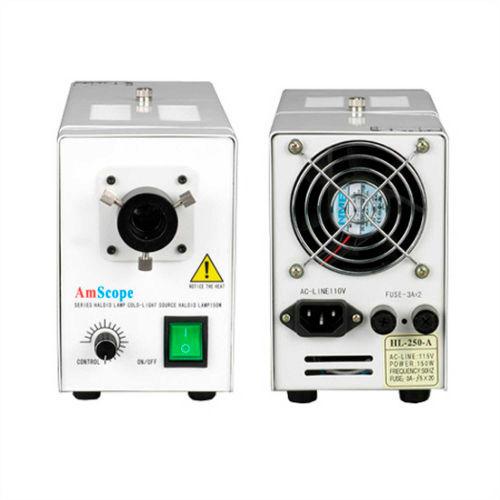 AmScope HL250-A 150W Fiber Optical Microscope Illuminator Light Box by