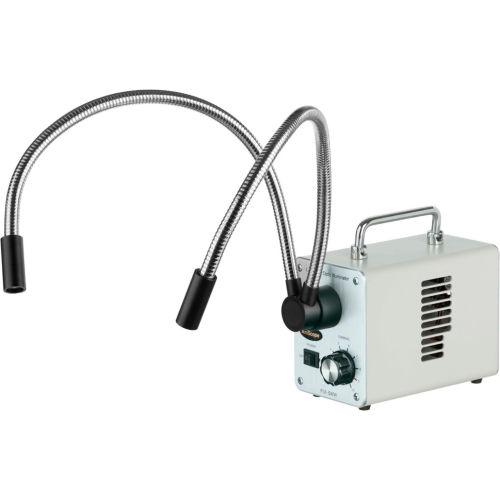 AmScope LED-50WY 50W LED Fiber Optic Dual Gooseneck Lights Microscope Illuminator by