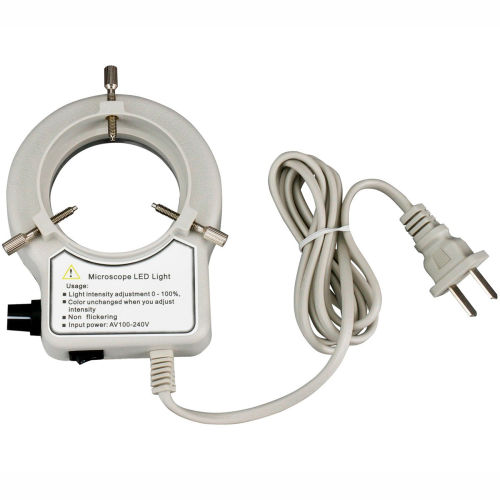 AmScope LED-56S-ZK 56-LED Reinforced Microscope Ring Light with Dimmer by