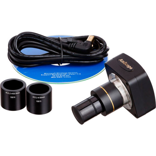 AmScope MU500 5MP USB2.0 Microscope Digital Camera & Software by