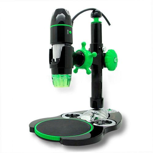 AmScope UBW500X0200M 5X-500X 2MP 8-LED 3D Zoom Digital USB Microscope by