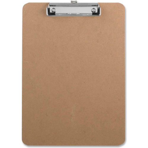 "Sparco Hardboard Clipboard with Rubber Grips, 9"" x 12-1/2"", Brown by"