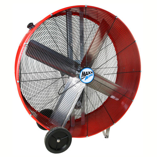 """MaxxAir 42"""" Belt Drive Heavy Duty Portable Barrel Fan BF42BD RED 13300 CFM by"""