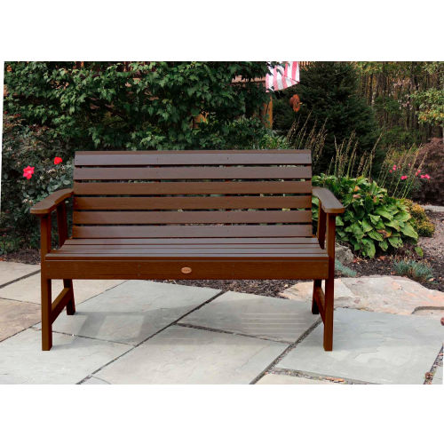 highwood 5' Weatherly Outdoor Bench, Eco Friendly Synthetic Wood In Weathered Acorn by