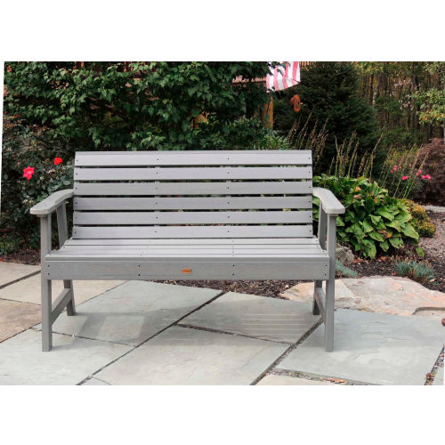 highwood 5' Weatherly Outdoor Bench, Eco Friendly Synthetic Wood In Coastal Teak by