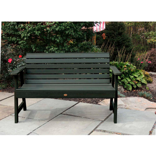 highwood 5' Weatherly Outdoor Bench, Eco Friendly Synthetic Wood In Charleston Green by