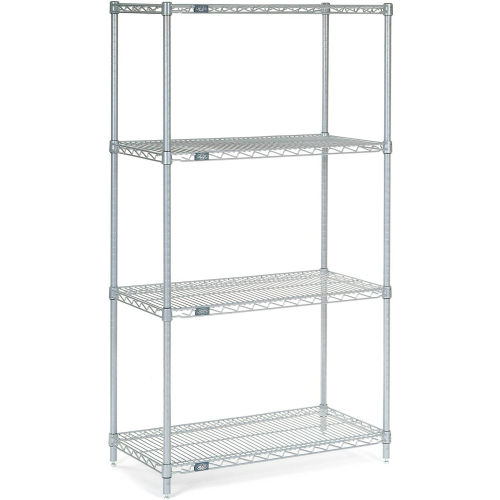 "Nexel Stainless Steel Wire Shelving 36""W X 18""D X 63""H by"