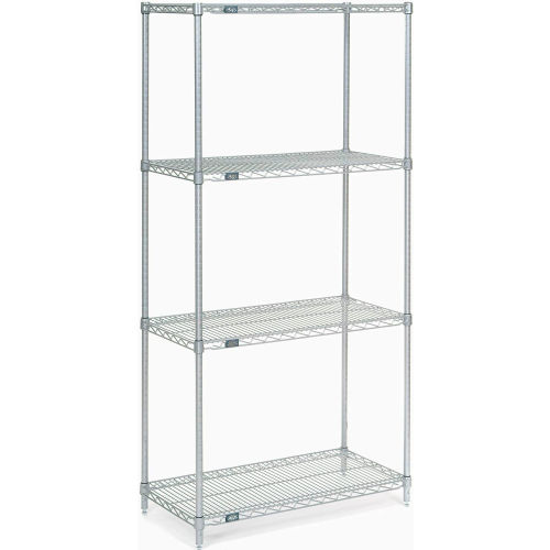 "Nexel Stainless Steel Wire Shelving 36""W X 18""D X 74""H by"