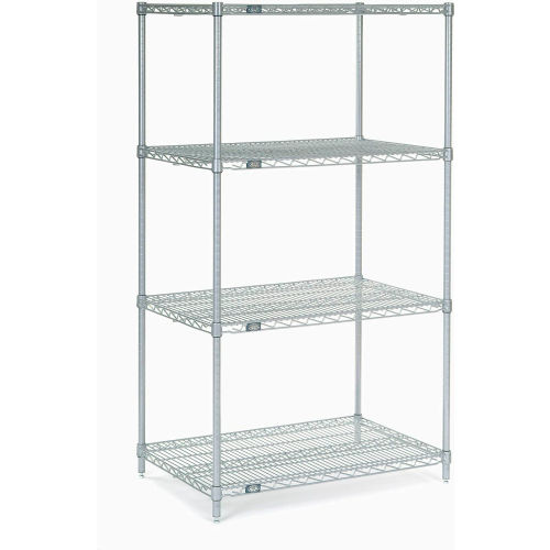 "Nexel Stainless Steel Wire Shelving 36""W X 24""D X 63""H by"