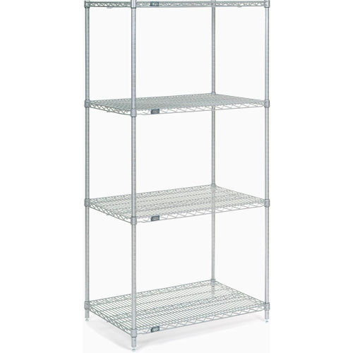 "Nexel Stainless Steel Wire Shelving 36""W X 24""D X 74""H by"