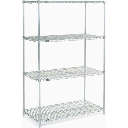 "Nexel Stainless Steel Wire Shelving 48""W X 24""D X 74""H by"