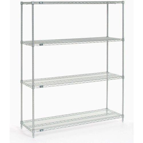 "Nexel Stainless Steel Wire Shelving 60""W X 18""D X 74""H by"