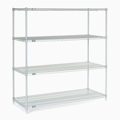 "Nexel Stainless Steel Wire Shelving 60""W X 24""D X 63""H by"