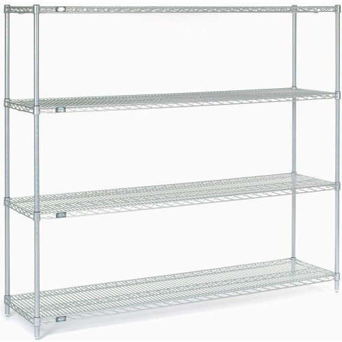 "Nexel Stainless Steel Wire Shelving 72""W X 18""D X 63""H by"