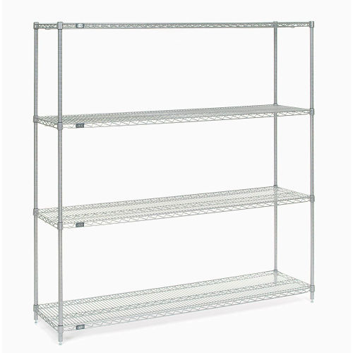 "Nexel Stainless Steel Wire Shelving 72""W X 18""D X 74""H by"