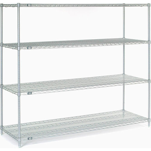 "Nexel Stainless Steel Wire Shelving 54""W X 18""D X 63""H by"