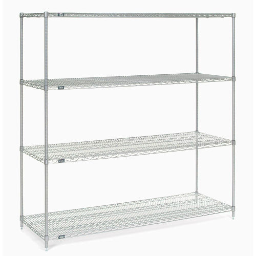 "Nexel Stainless Steel Wire Shelving 54""W X 18""D X 74""H by"
