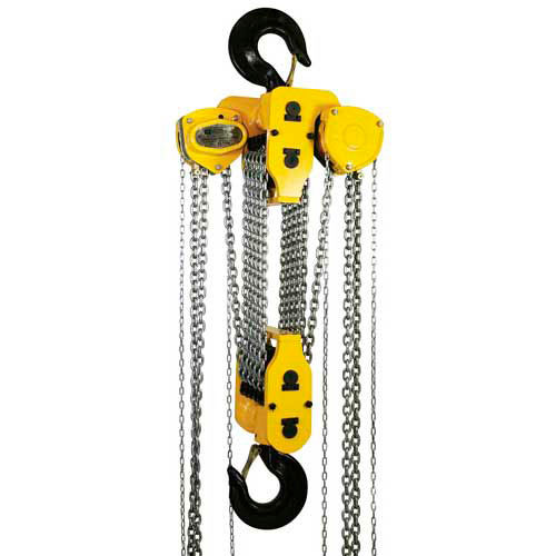 OZ Lifting Manual Chain Hoist With Std. Overload Protection 30 Ton Cap. 10' Lift by
