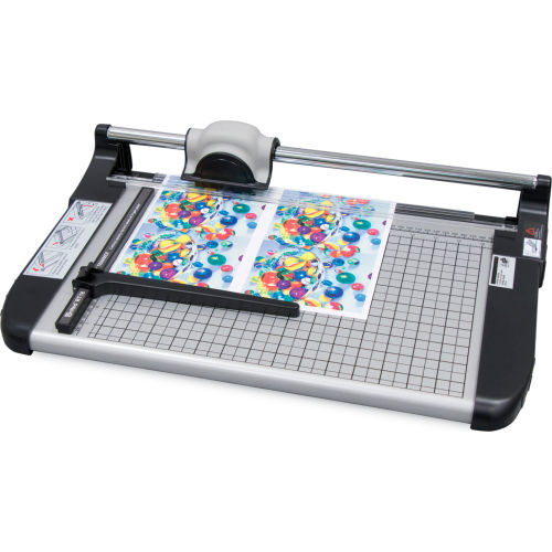 """United Rotary Paper Trimmer 18"""" Cutting Length 15 Sheet Capacity Gray by"""