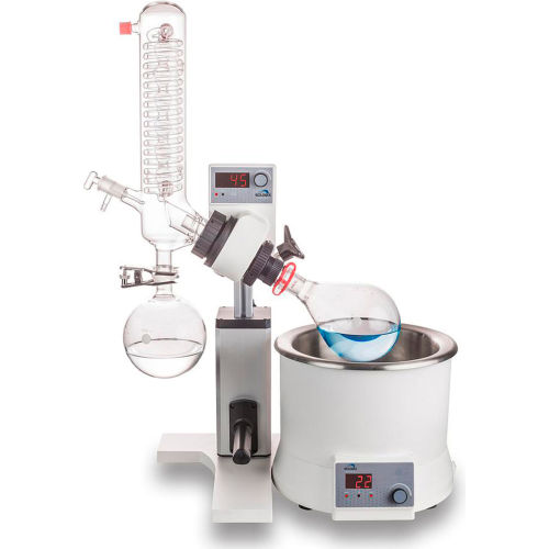 SCILOGEX RE100-S LED Rotary Evaporator, Vertical Coiled Condenser, Manual Lift by