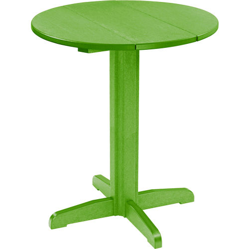 """CR Plastics 32"""" Round Table Top with a 40"""" Pub Pedestal Base Kiwi Green... by"""