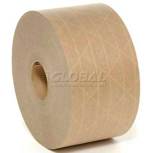 "3M 6147 Reinforced Water Activated Paper Tape 3"" x 150 Yds. 6 Mil Kraft Package Count 10 by"