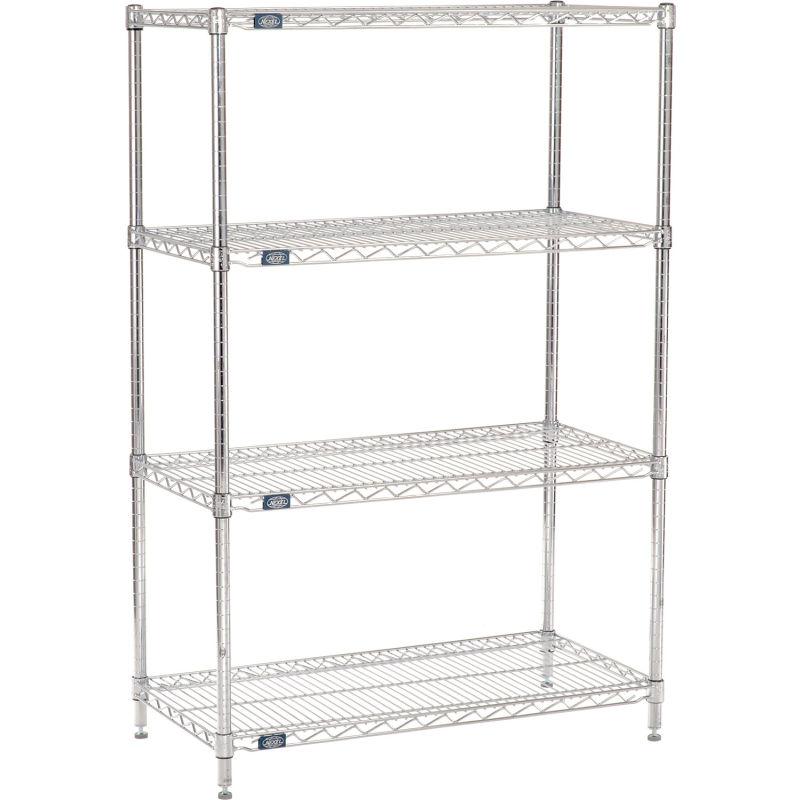36W x 18D x 63H Nexel Wall Mount Wire 4-Shelf Starter Unit