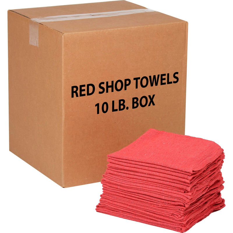 62000 14 x 14 Red Shop Towel, Pack of 500 Buffalo Industries