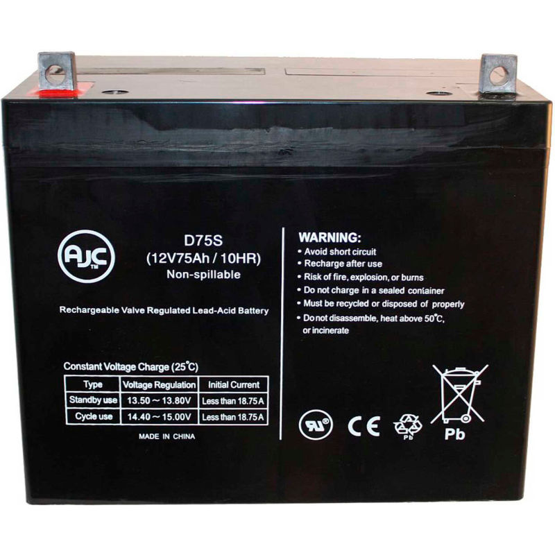This is an AJC Brand Replacement Ritar RT1245 12V 4.5Ah UPS Battery