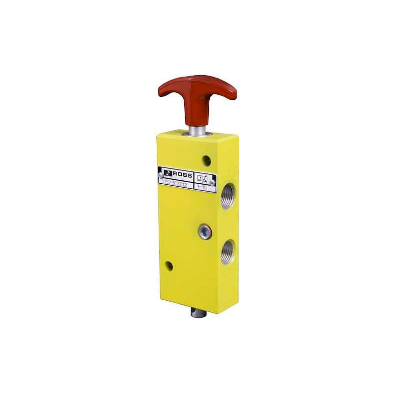 2-1//2 In-Out 27 Air Piloted Manual Lockout 3//2 Way 2-1//2 Exhaustaust BSPP 2-1//2 In-Out 2-1//2 Exhaustaust BSPP Ross Controls YD2783A9016 Lockout Valve