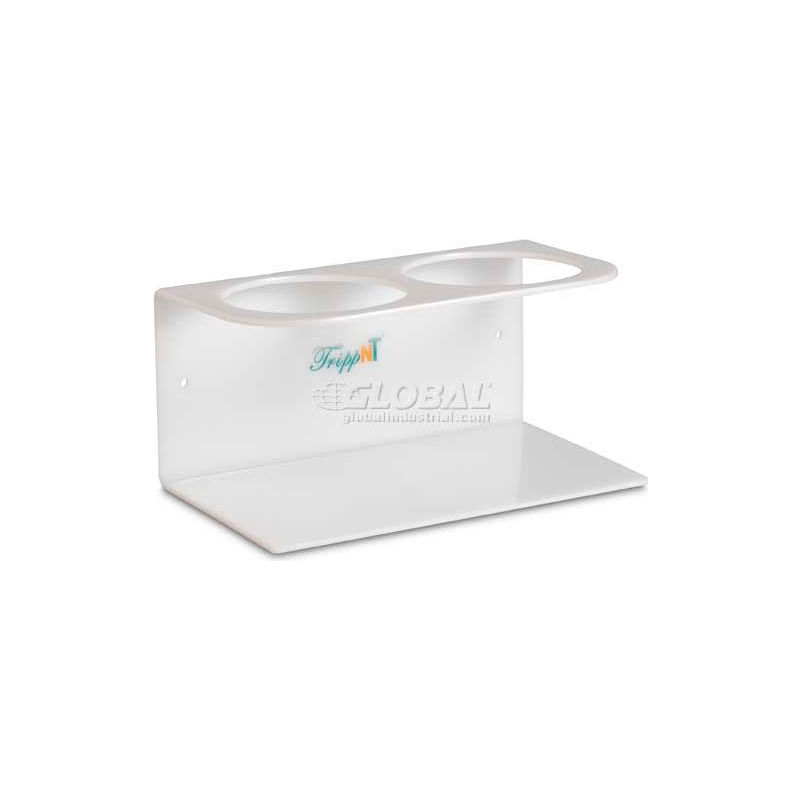 9 Width x 6 Height x 7 Depth TrippNT 51893 White ABS MRI 3-Hole Two-Story Bottle Holder