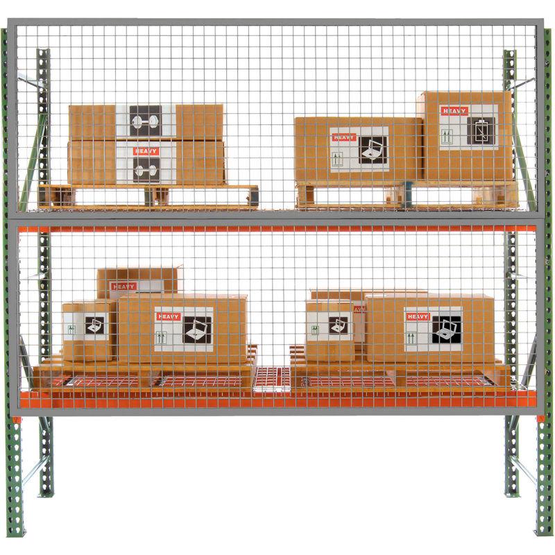 Rg-1048 Rg1000-04000 W X H: 120 X 48 Pallet Rack Guard For Tear Drop Pallet Racks Option A: 6 Inch Offset Wireway Husky