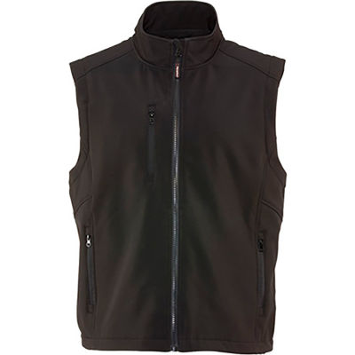 RefrigiWear Softshell Vest, Black, 20°F Comfort Rating, 3XL