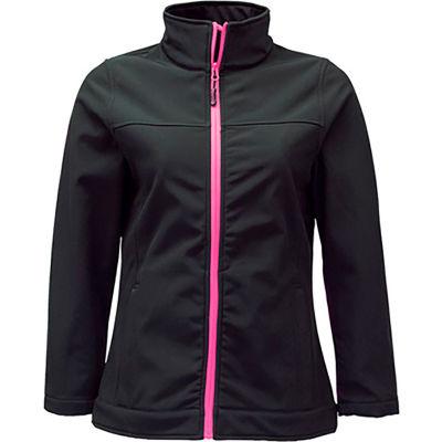 RefrigiWear Women's Softshell Jacket, Black, 20°F Comfort Rating, S