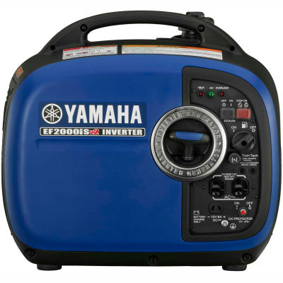 Yamaha™ Portable Inverter Generator, Gasoline, Recoil Start, 1600 Rated Watts