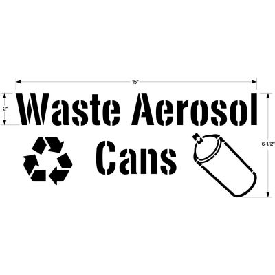 Newstripe Waste Aerosol Cans Stencil For Collection Drums, Recycle Symbol & Can Image, 1004865