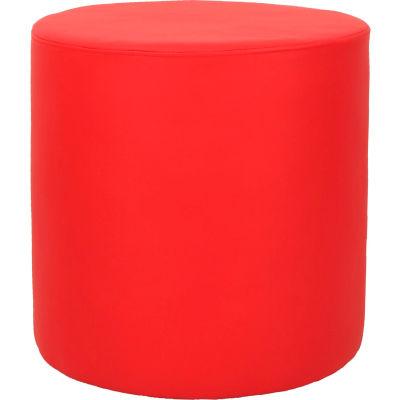Interion® Round Reception Ottoman - Red