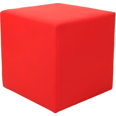 Interion® Cube Reception Ottoman - Red