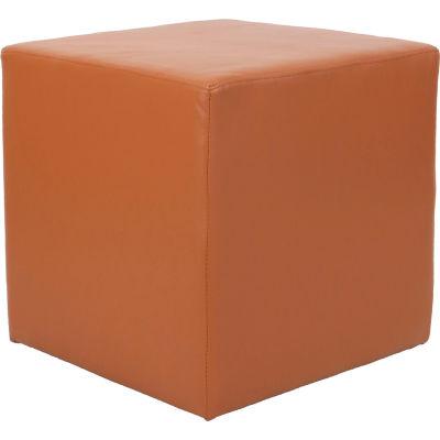 Interion® Cube Reception Ottoman - Tan