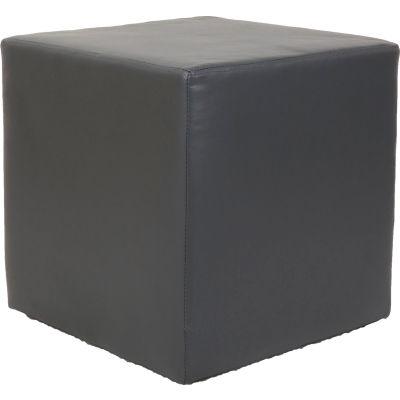 Interion® Cube Reception Ottoman - Gray